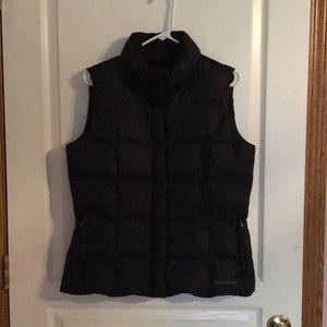 Eddie Bauer black down puffer vest.